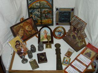 Heiligenbilder,  Ikonen,  Fotos,  Hausaltar,  Puppenstube,  Wegkreuz,  Musiz.  Zinn - Nonnen U.  A Bild