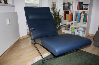 Sessel - X - Chair - Leder Von Interprofil Dunkelblau - Bild