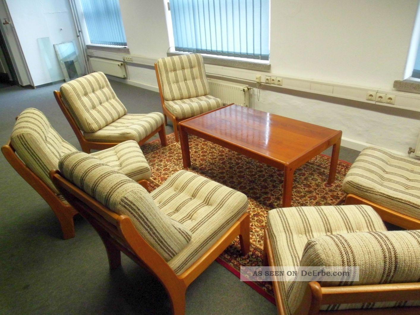 danish teak sesselelemente individuell stellbar sofa 70er 60s mid century. Black Bedroom Furniture Sets. Home Design Ideas