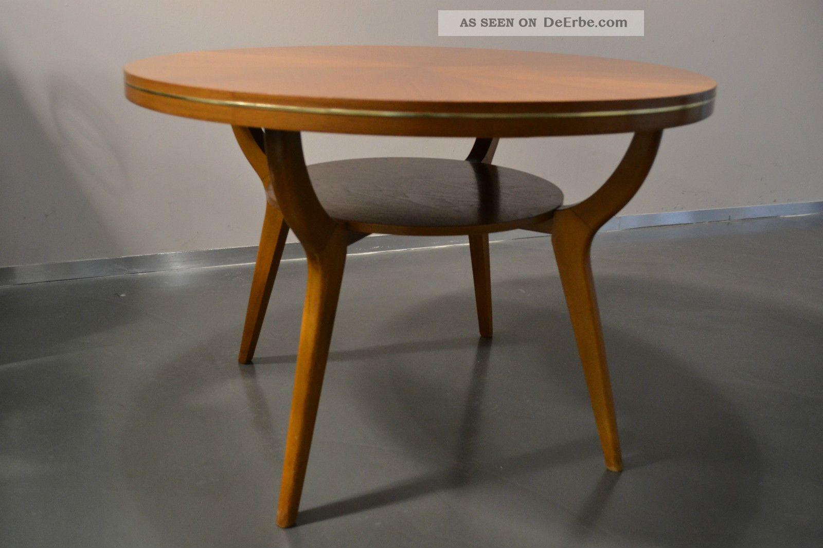 coffeetable tisch couchtisch ilse m bel 50er 60er buche buchenholz mid century. Black Bedroom Furniture Sets. Home Design Ideas
