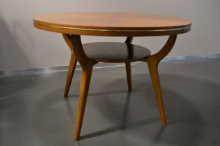 Coffeetable Tisch Couchtisch Ilse Möbel 50er 60er Buche Buchenholz Mid Century Bild