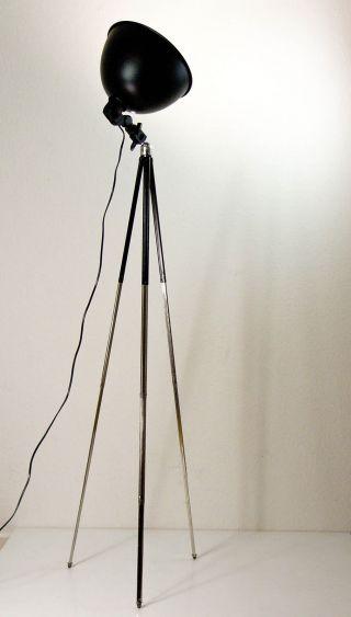 Tripod Statv Lampe Dreibein Stehlampe Design 70 Er Bild
