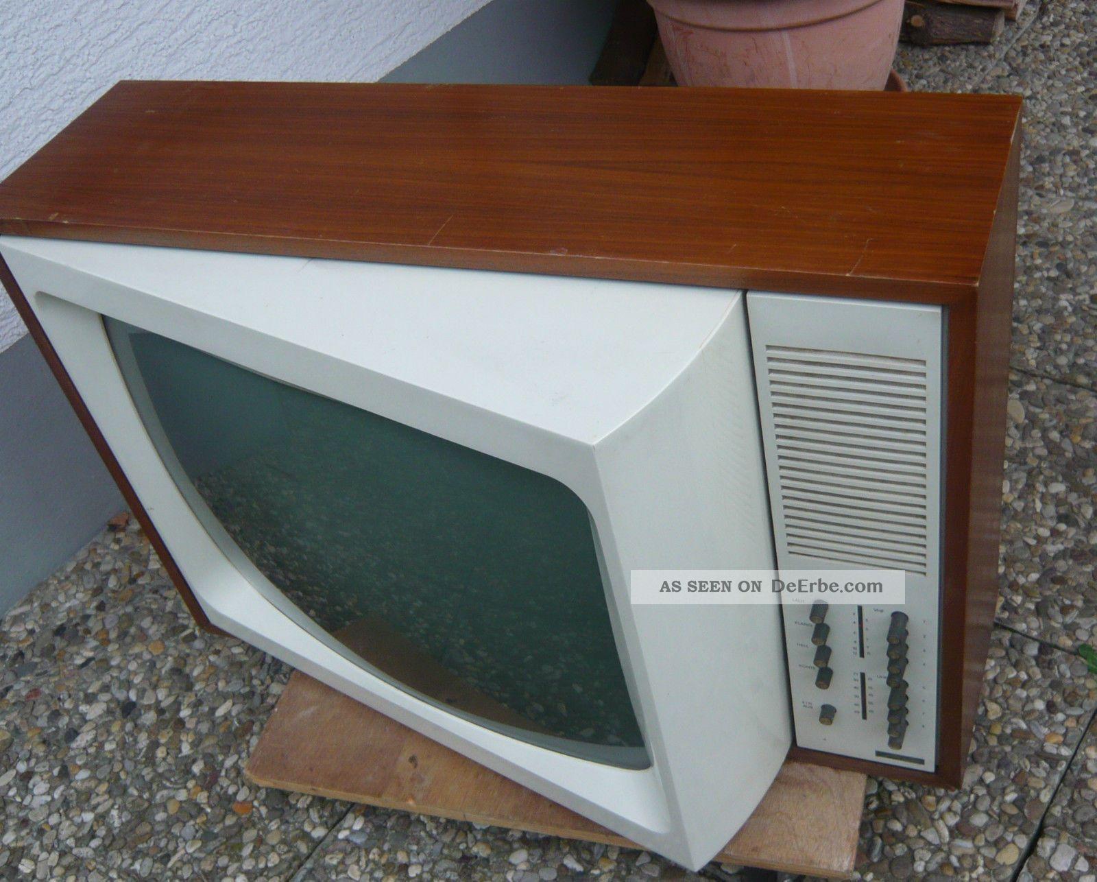Metz Panama Design - Fernsehgerät Mit Schwenkbarem Bildschirm 60er Jahre Design 1960-1969 Bild