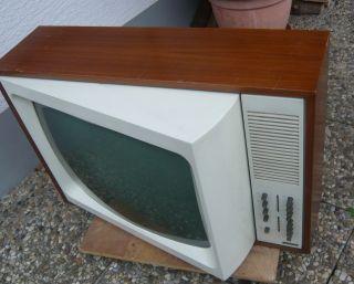 Metz Panama Design - Fernsehgerät Mit Schwenkbarem Bildschirm 60er Jahre Design Bild