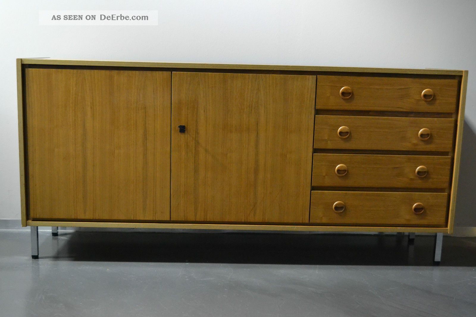 design sideboard anrichte kommode 60er 70er jahre teak teakholz mid century. Black Bedroom Furniture Sets. Home Design Ideas