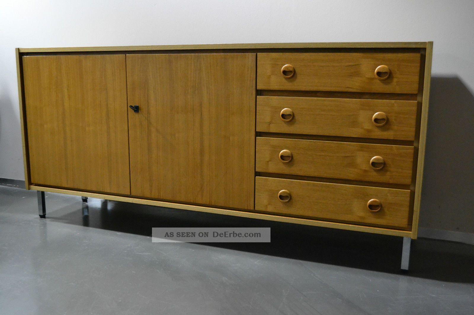 design sideboard anrichte kommode 60er 70er jahre teak teakholz mid century. Black Bedroom Furniture Sets. Home Design Ideas