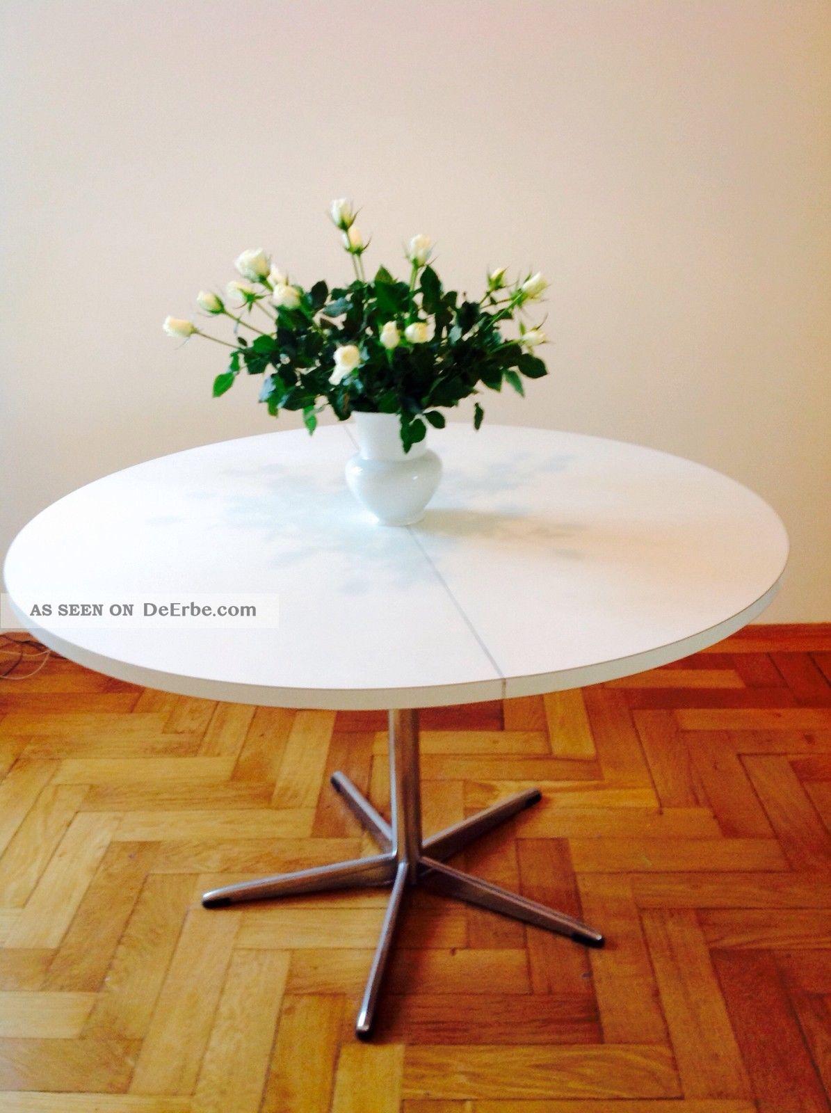 Aera Esstisch Como ~ 60er  70er Midcentury Tisch Weiß Saarinen Knoll Vitra Ära Esstisch