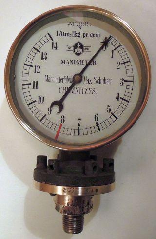 Uraltes Manometer - 1920er Jahre - Dampfmaschine ?? Lokomotive ?? Bild