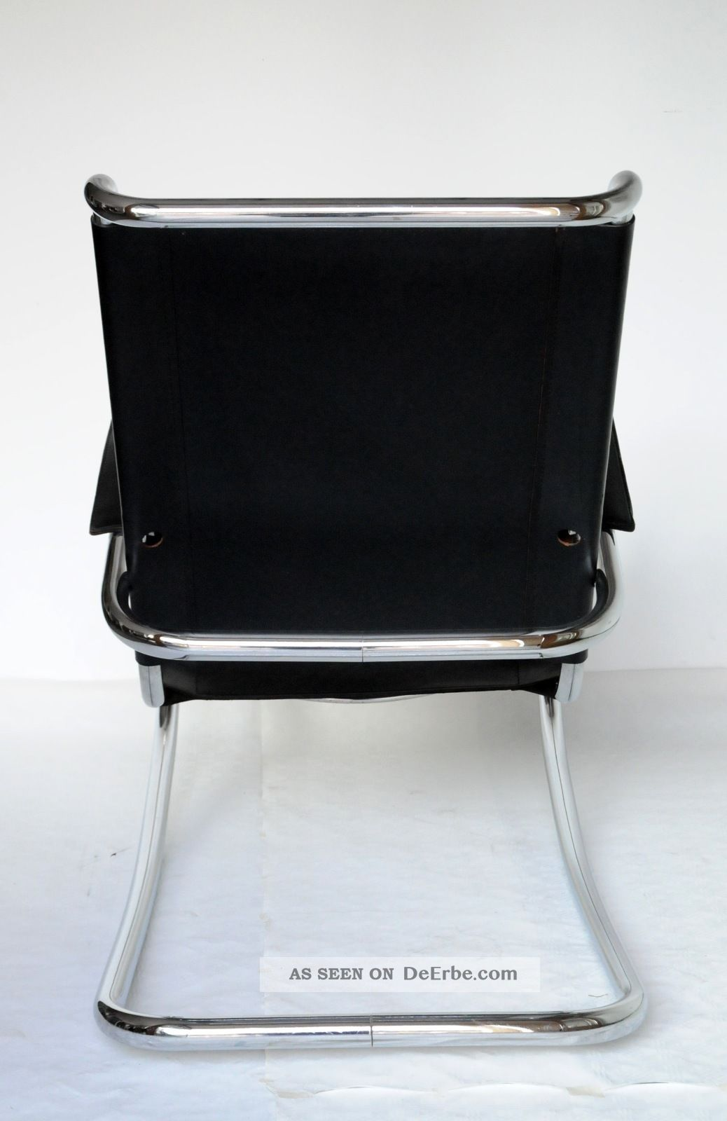 Sessel schaukelstuhl rocking chair stahlrohr leder schwarz for Sessel schaukelstuhl