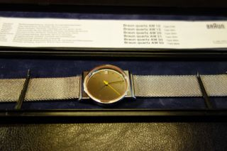 Braun Armbanduhr Aw 21 (3804),  Design: Dietrich Lubs,  Neuwertig, Bild