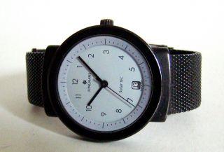 Junghans Solar Tec Mattschwarz Mit Milaneseband Unisex Uhr Designklassiker Rare Bild