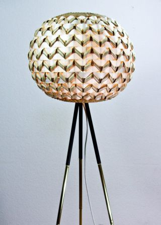 Kugellampe Dreibein Stehlampe Tripod Lampe Messing Stativ Design 60 Er Bild