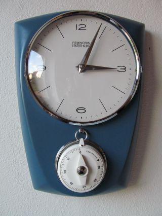 Remington Mit Eieruhr - Blau - Küchenuhr / Wanduhr - 50er Jahre Bild