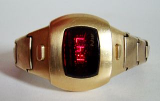Pulsar P4 Damenuhr Ladies Vintage Red Led Watch Space Age Ära 70er Top & Rare Bild
