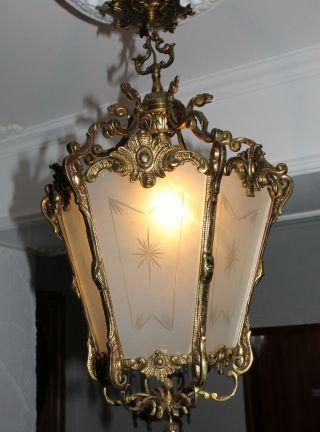 Antike Französische Laterne,  Lampe - Lüster - Empire - Jugenstil Bild