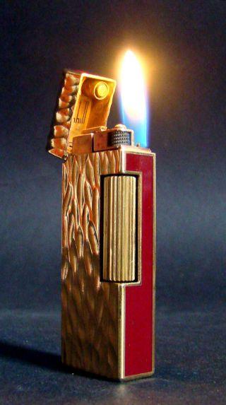 Dunhill Dome Chinalack Feuerzeug Vintage Lighter 70er Top & Mega Rare Bild
