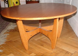 60er 70er Jahre Teak Teakholz Tisch In Berlin Vintage Design Bild