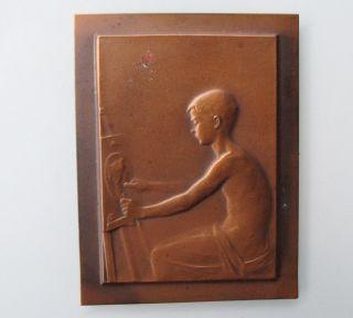 Jugendstil Flach - Relief Aus Kupferblech