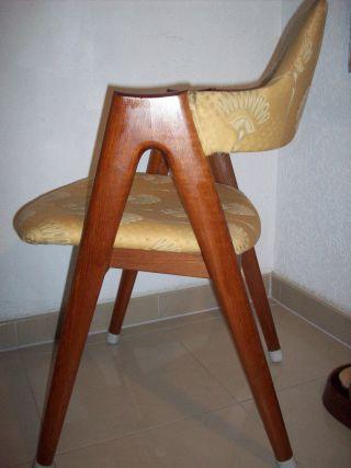 60s Danish Design Kai Kristiansen Compass Teak Stuhl Dining Chair Mid Century Bild