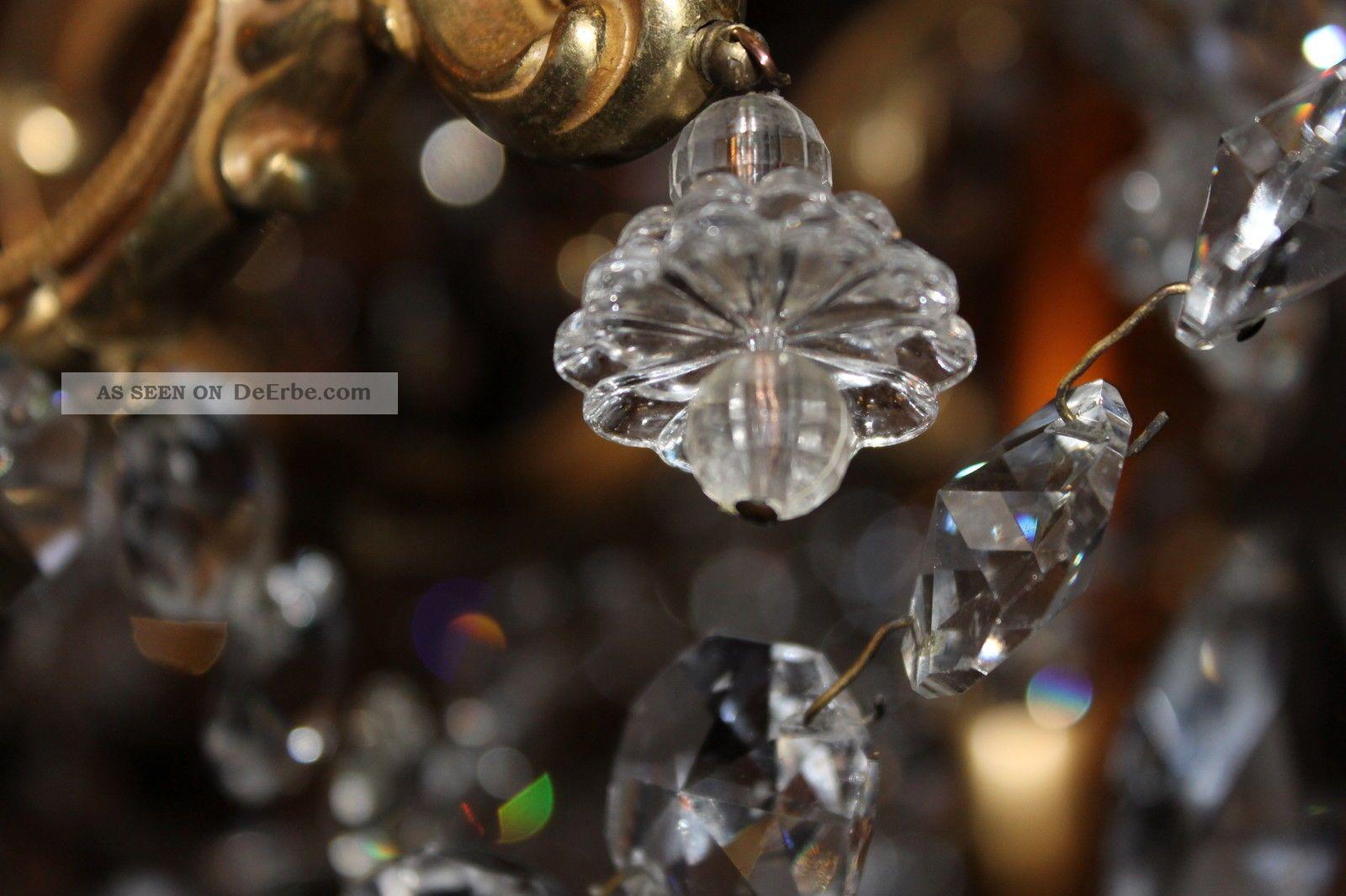 Kronleuchter 9 Flammig Kristall ~ Prunkvoller antiker lüster kronleuchter kristall prismen 6 flammig