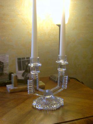 Art Deco Kerzenständer Kerzenhalter Aus Pressglas Um 1920 Böhmisch Prag Bild