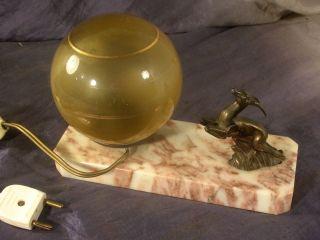 Tischlampe,  Springbock,  Metall,  Bronziert,  Frankreich,  Art Déco,  1920 Bild