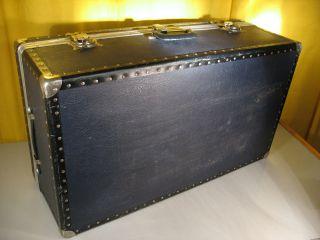50 ' S Fifties Riesiger Übersee - Koffer Ca.  1955 Fünfziger Jahre Dunkelblau Top Bild