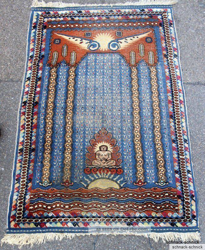 Teppich Wandteppich Bilderteppich Tibet Handgeknüpft Um