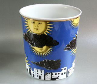 Fornasetti Für Rosenthal Porzellan Vase - Il Sole Di Capri - H:20cm Top Design Bild
