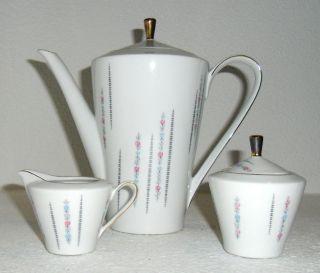 Schumann Arzberg Geschirr Kaffeekanne Zuckerdose 60er Vintage Retro Design Alt Bild