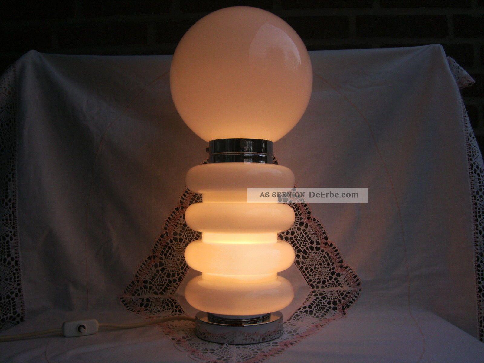 Jbs tischlampe tischleuchte bulb design glas chrom metall for Wohnzimmer 60er 70er