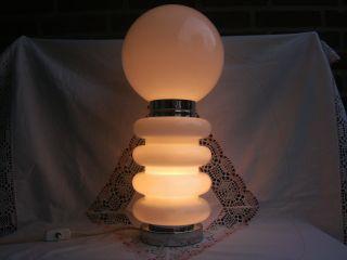 Jbs Tischlampe Tischleuchte Bulb Design Glas Chrom Metall 60er - 70er Jahre Bild