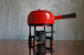 Fondueset Teak & Iron Dansk Designs Ihq By J.  Quistgaard Kobenstyle 1957 Bild