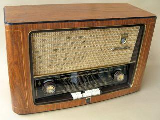 Grundig Radio 3010,  RÖhrenradio Von 1952/53.  Spielt Historic Tube Radio Bild