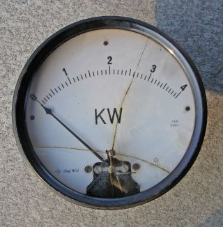 Leistungsmessgerät Kw Leistung Art Déco Instrument Messgerät Antik Alt Bild