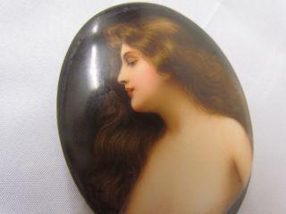 Antike Miniatur 1890 Schönheit Signiert Top Bild