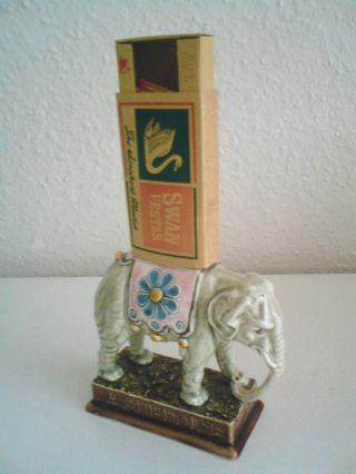 Antiker Streichholzhalter Zündholzhalter Streichholzspender Keramik La Suedoise Bild