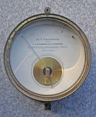 Spannungsmesser Voltmeter Volt Art Déco O.  L.  Kummer & Co.  Dresden Antik Alt Bild