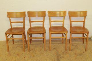 4x 30er Jahre Frankfurter Küche Stühle Stuhl Art Deco Bauhaus Ära Bistrostühle Bild