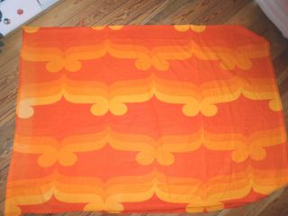 Vorhang Stoff 70er 70er 70s Panton Rot Orange Gelb Retro Rest Bild