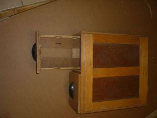 Alter Karteikasten Aus Holz,  Mit 2 Schubladen,  Büro Industrie Shabby Bild