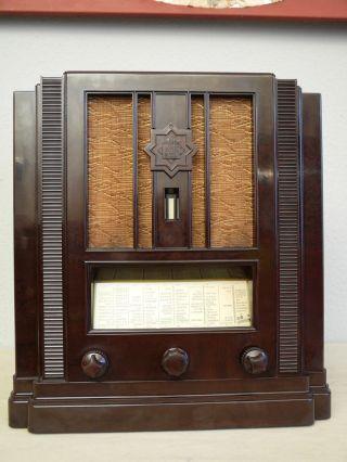 Telefunken 653wlk Bayreuth - Einmaliger Art Deco Bakelit Von 1933/34 Bild