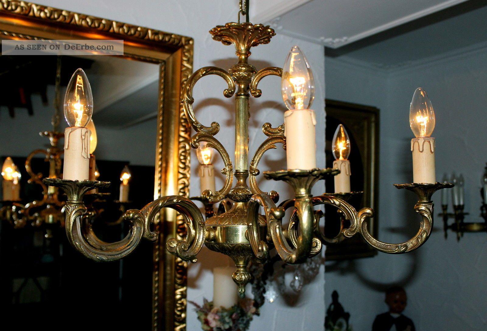 Antike Kronleuchter Frankreich ~ Großer alter antiker kronleuchter chandelier flammig frankreich