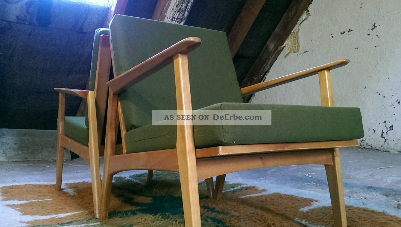 60er Jahre 60s Easy Arm Chair 3 Lounge Club Sessel Mid Century