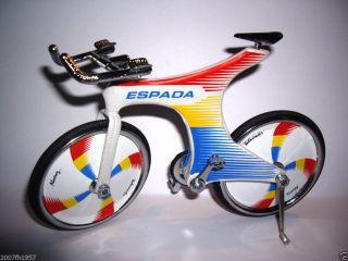 Miniatur Fahrrad Rennrad Model Metal Deko Bike Tourenrad Miguel Indurain Banesto Bild
