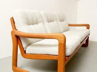 60er Sofa,  Teak Massiv,  Juul Kristensen,  Bezogen Bild