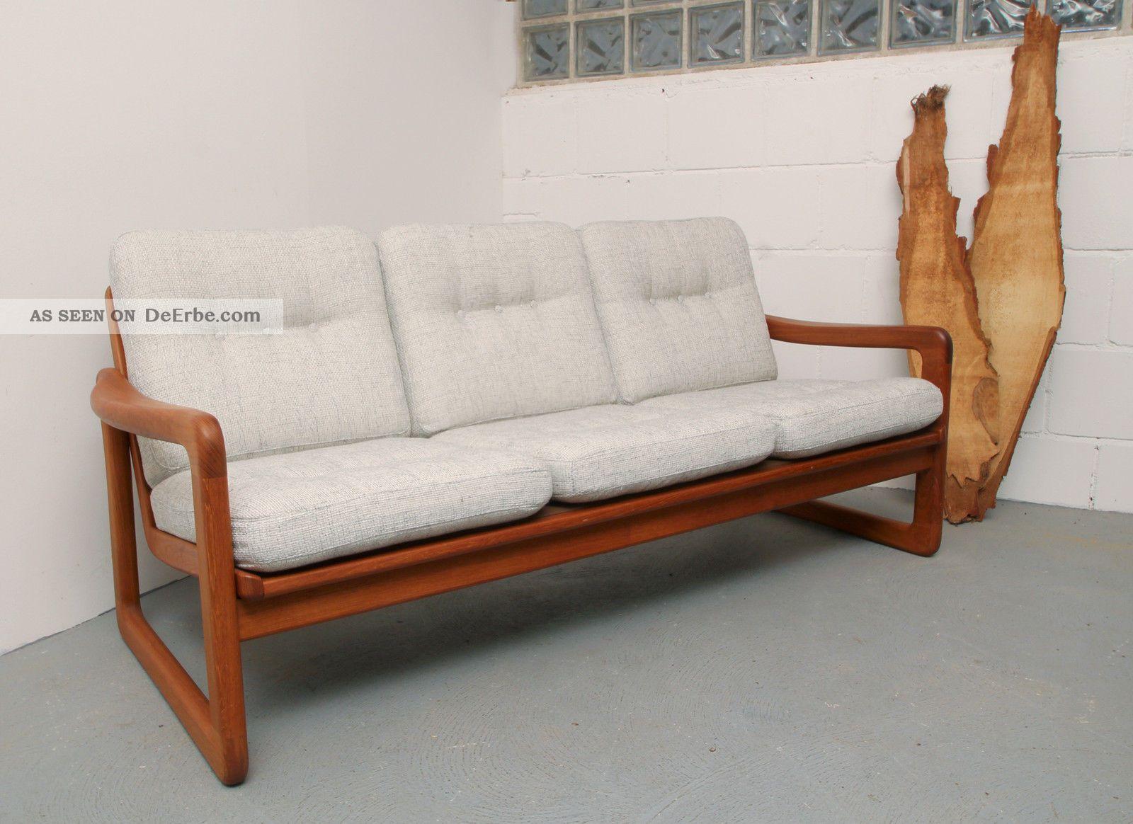60er sofa teak massiv juul kristensen bezogen. Black Bedroom Furniture Sets. Home Design Ideas
