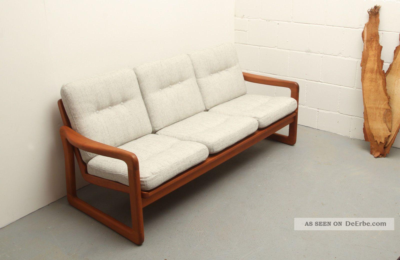 60er sofa teak massiv juul kristensen bezogen for Sofa 60er stil
