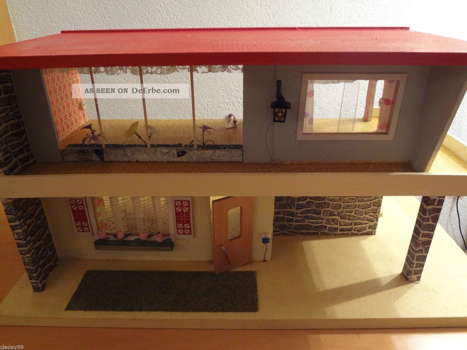 60er ddr puppenhaus gottschald veb marienberg holz. Black Bedroom Furniture Sets. Home Design Ideas