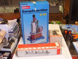 Neuwertige Wilesco Dampfmaschine D45,  Ovp.  Im Karton,  Zubehör,  Top Bild